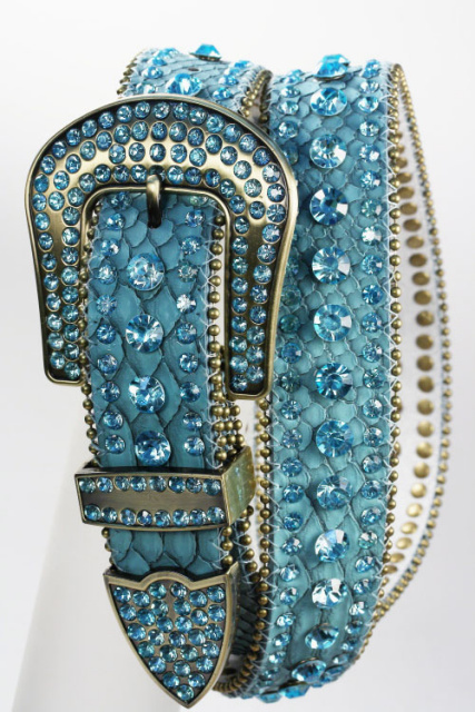 Turquoise all Rhinestone Belt
