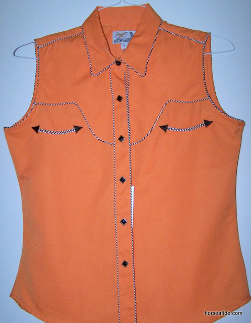 Orange PanHandle Slim Retro Style Ladies Top