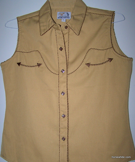 Golden PanHandle Slim Retro Style Ladies Top