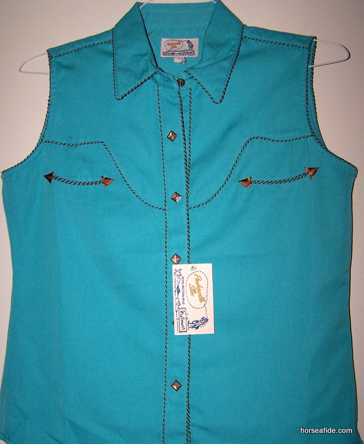 Turquoise PanHandle Slim Retro Style Ladies Top
