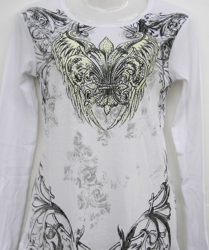 White Fluer De Lis Design Shirt